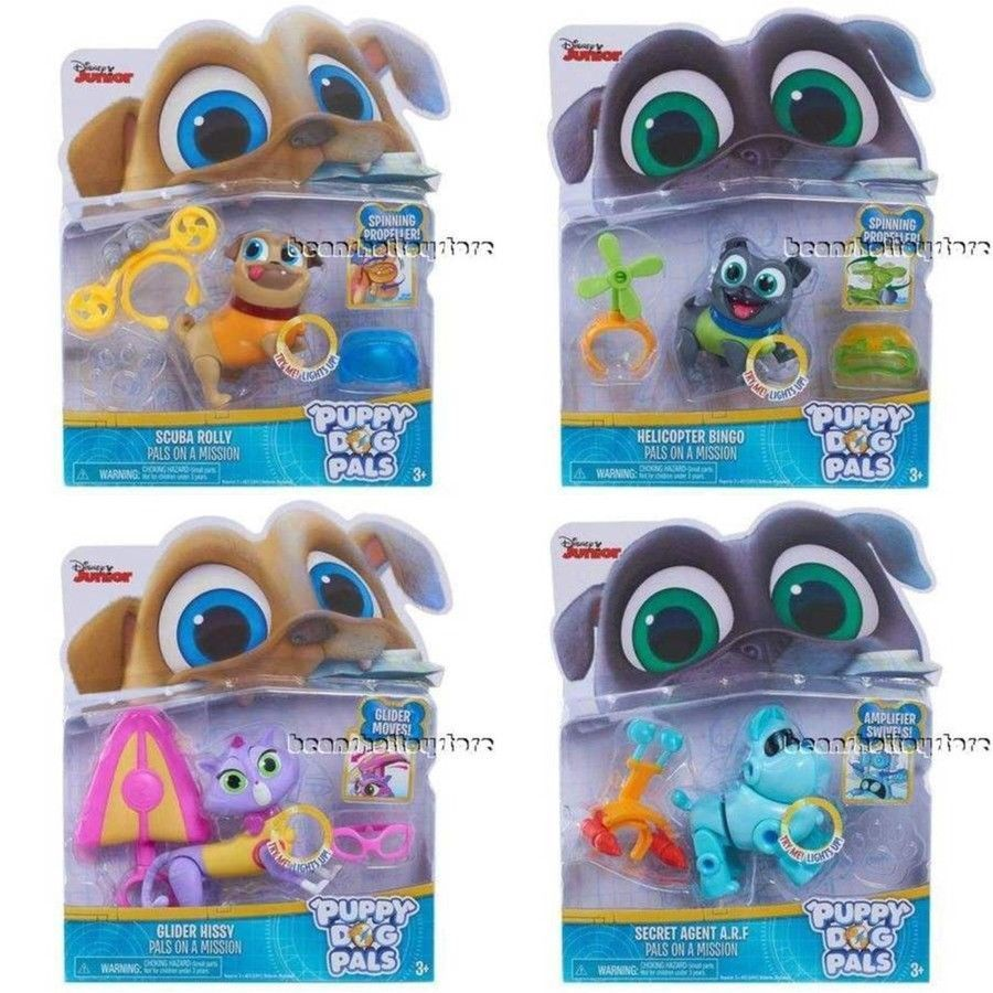 cb6998820d99d Puppy Dog Pals Rolly Bingo Hissy A.R.F Light Up Pups on a Mission Toys   Justplay