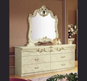 Camel Barocco Ivory Italian Double Dresser Set   6 Drawers
