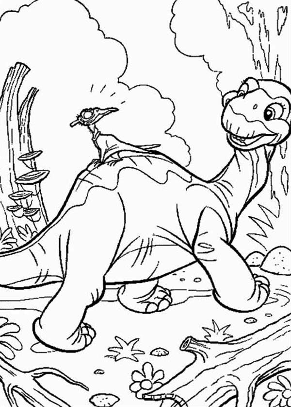 Land Before Time Family Petrie Aroound the Jungle Coloring Page