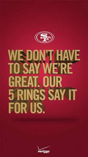 Verizon nfl smartphone wallpapers san francisco 49ers smartphone display your san francisco 49ers bragging rights with this smartphone wallpaper voltagebd Gallery