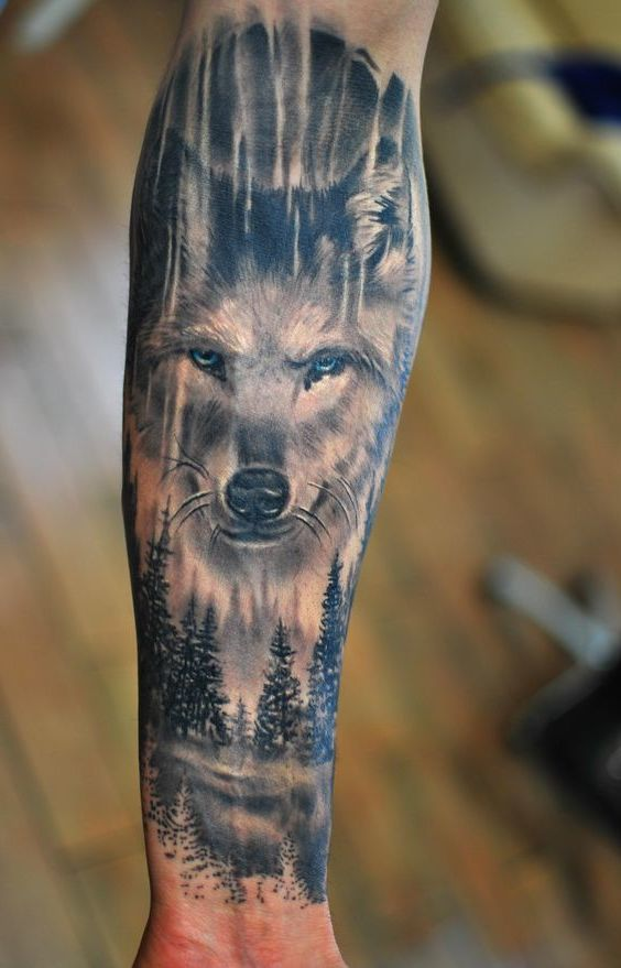 tattoo wolf 60 inspirierende ideen f r m nner und frauen tattoos tattoo ideen tattoo. Black Bedroom Furniture Sets. Home Design Ideas