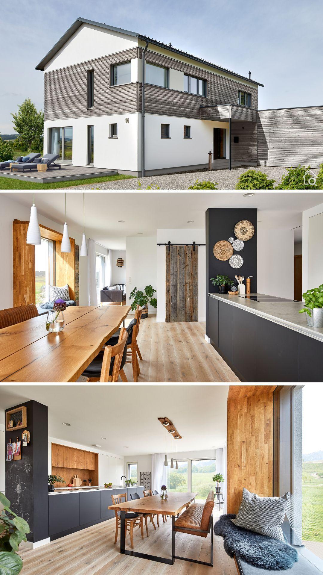 Einfamilienhaus Neubau modern mit Doppelgarage ...