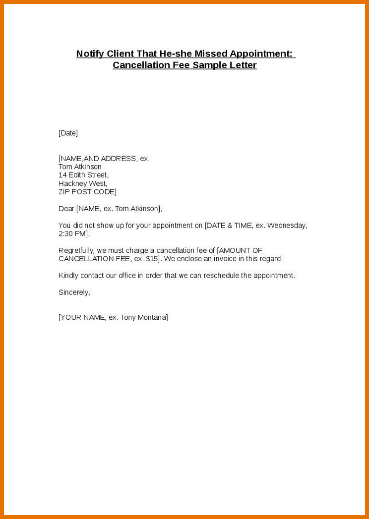 Sample Cancellation Letter Template Car Pictures Samples Writing