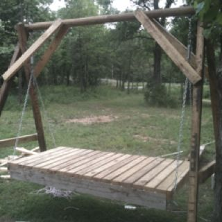 My first bed swing.
