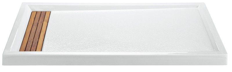 211 Shower Pan   Option Teak Hidden Drain Cover