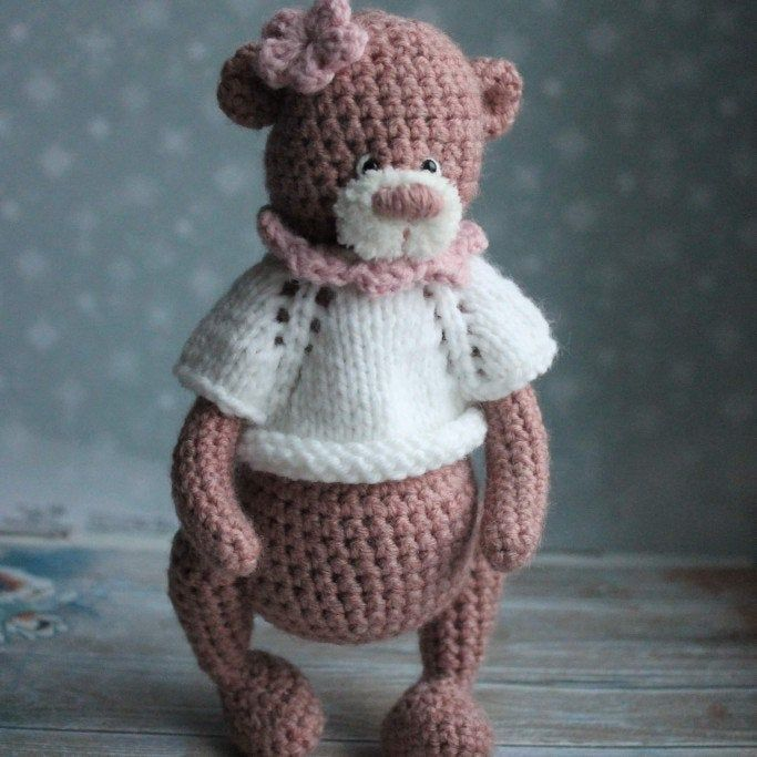 Crochet bear pattern, teddy bear, amigurumi toy, pink bear, Soft teddy bear, Stuffed bear toy, Pdf crochet pattern, bear Forest animal #crochetbearpatterns