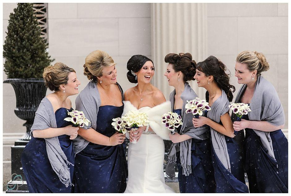 Purple winter wedding dresses