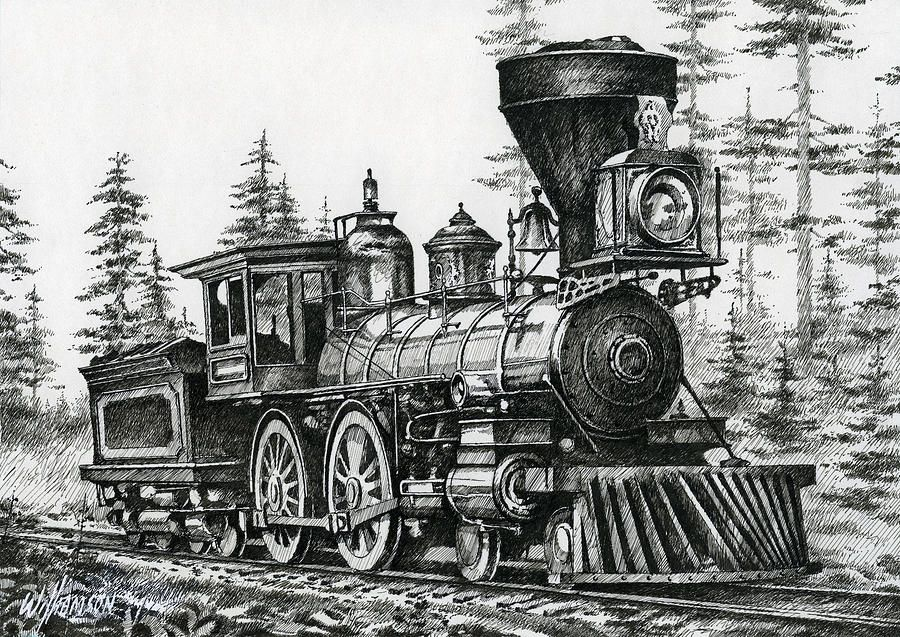 The Age Of Steam Drawing - The Age Of Steam Fine Art Print ...