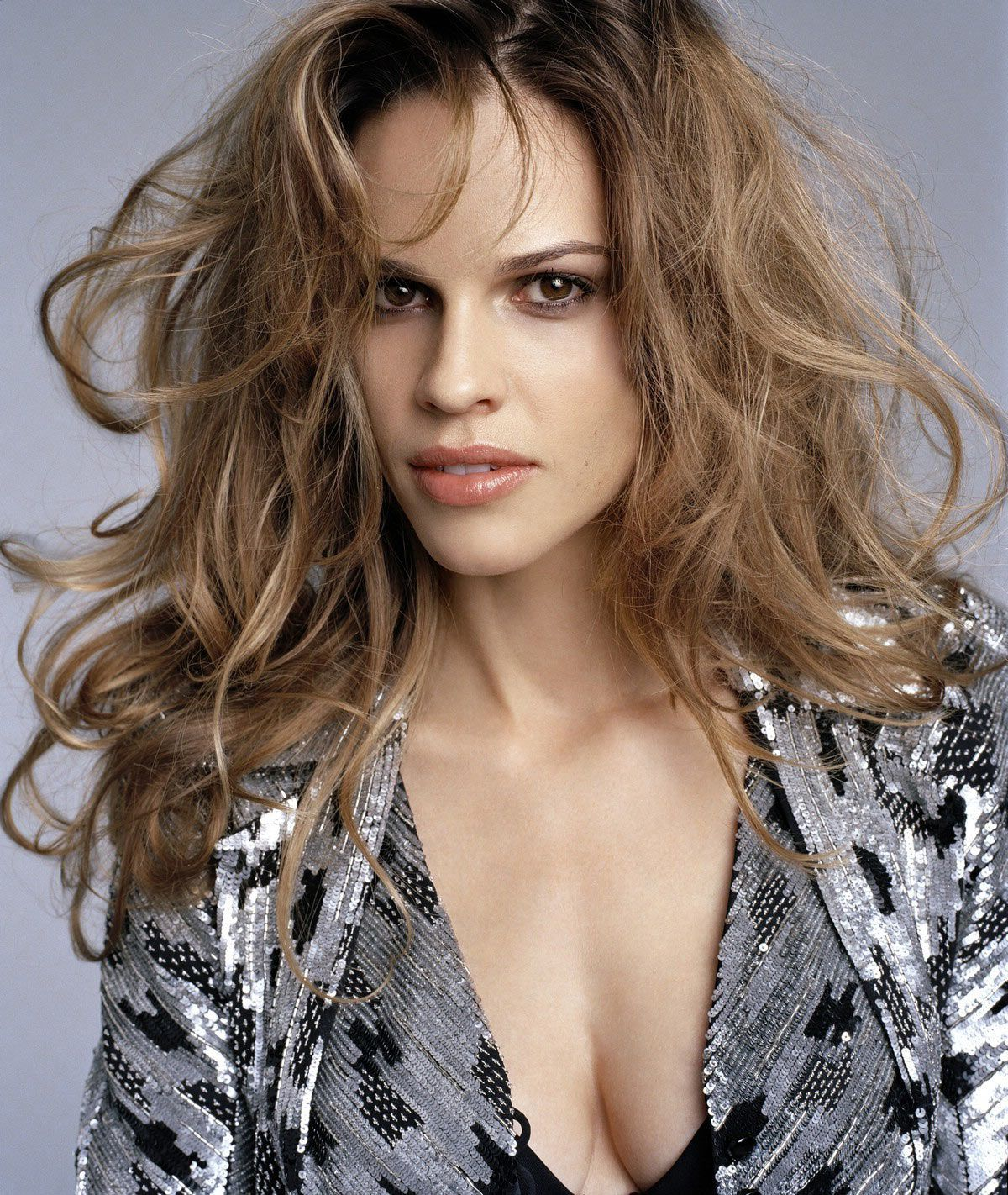 Hillary Swank Hilary Swank Looking Gorgeous With Fabulous Hair And A Hint Of