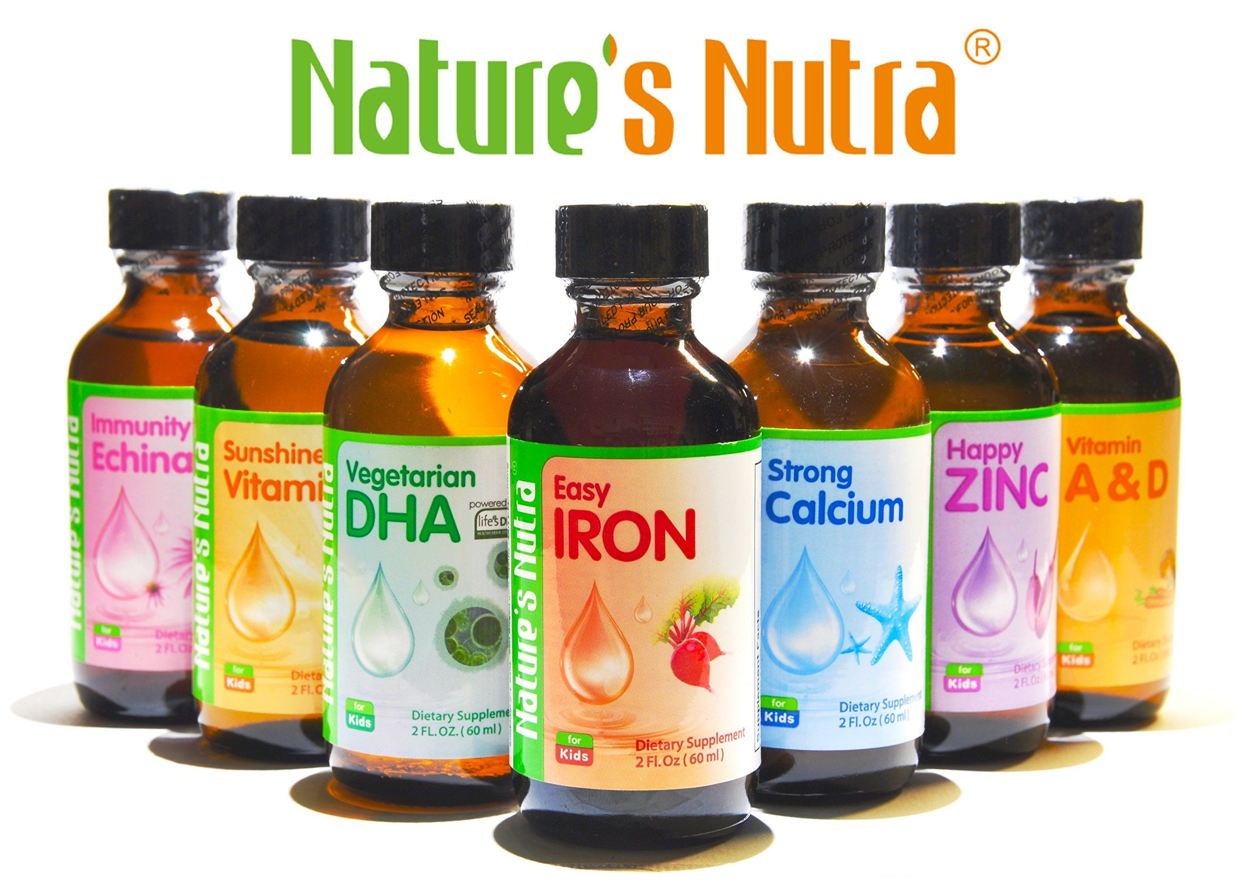Natures Nutra Vegetarian Baby Dha 2 Fl Oz 60ml 4pack With Bonus Vitamin D3 Premium Baby And Infant Liquid Drops Multivitamin Supplements Multivitamin Baby Dha