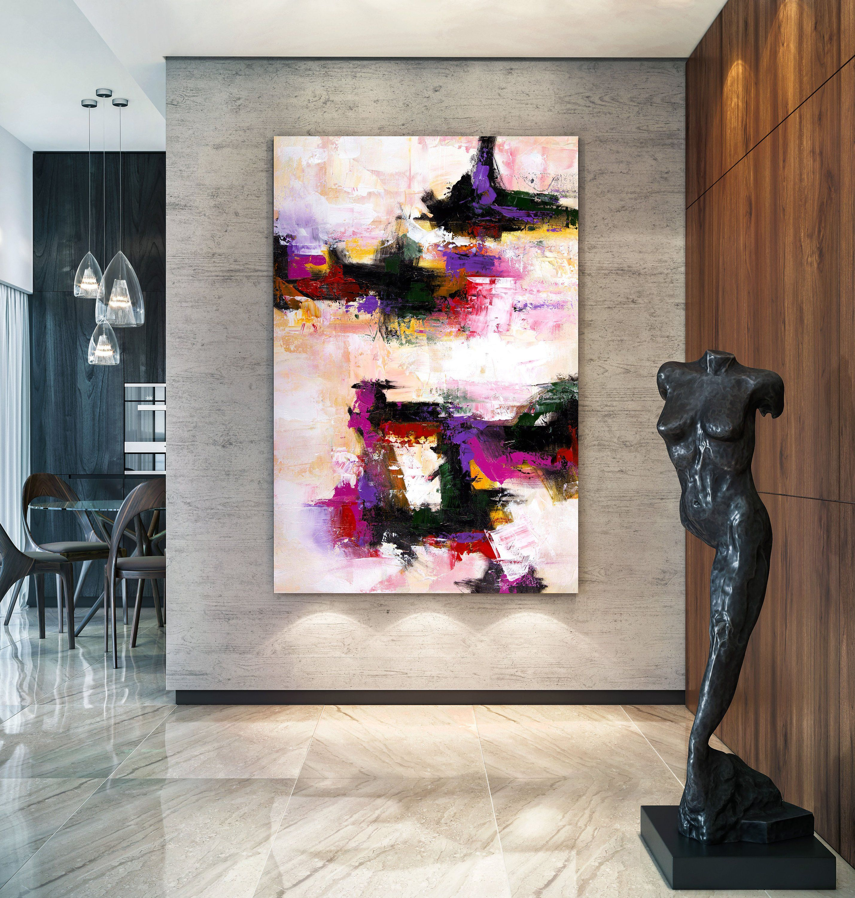 Large Abstract Painting Large Office Art Painting For Home Colorful Abstract Textured Paintings Nw0096 Extra Large Wall Art Textured Wall Art Handmade Wall Art