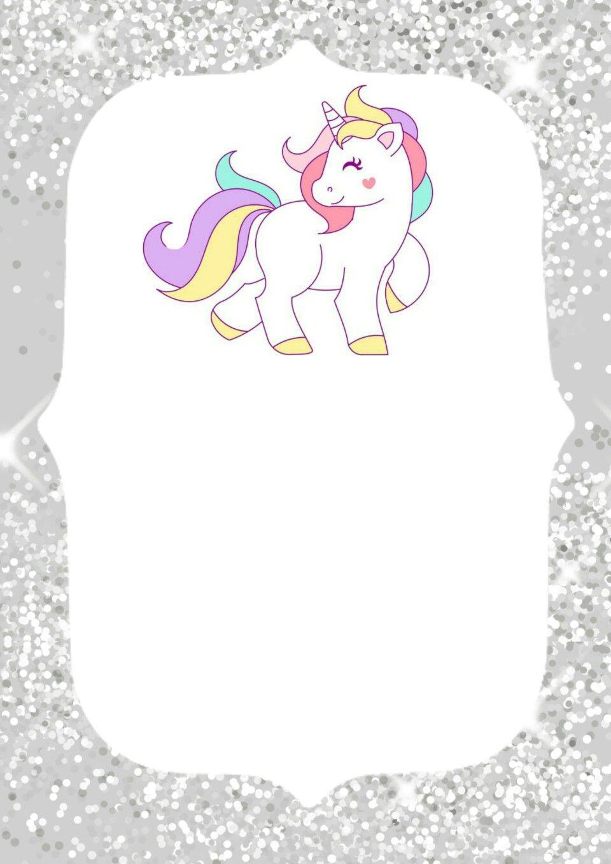 Invitaciones de unicornio para imprimir invitaciones de fiesta Invitaciones unicornio