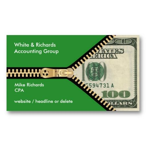 100 bill accounting business card business cards business and 100 bill accounting business card sciox Choice Image