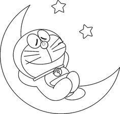 Colorear Doraemon Halaman Mewarnai Lukisan Sketsa