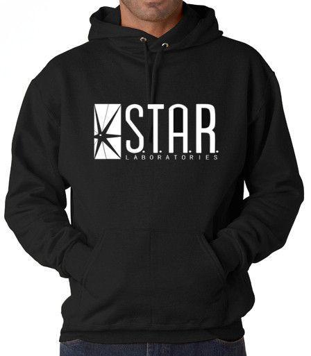 The Flash DC Barry Allen Laboratories Star Labs Hooded Sweatshirt ... ee450cfec0d