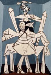 Femme assise dans un fauteuil (Dora) (Woman Sitting in an Armchair, Dora) | Pablo Picasso, Femme assise dans un fauteuil (Dora) (Woman Sitting in an Armchair, Dora) (1938)