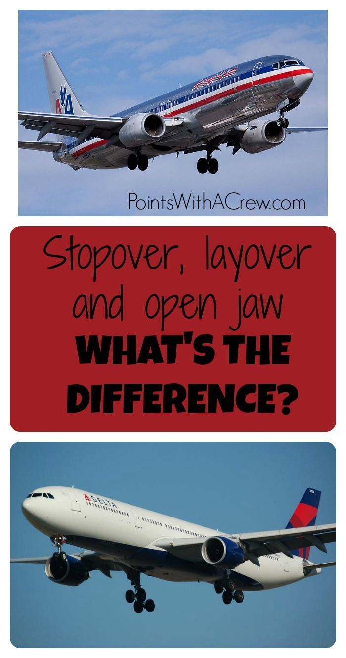 What is an open jaw flight?  Or a stopover?  Layover? What's the difference? - http://www.pointswithacrew.com/stopover-layover-open-jaw-whats-difference/?utm_medium=PWaC+Pinterest