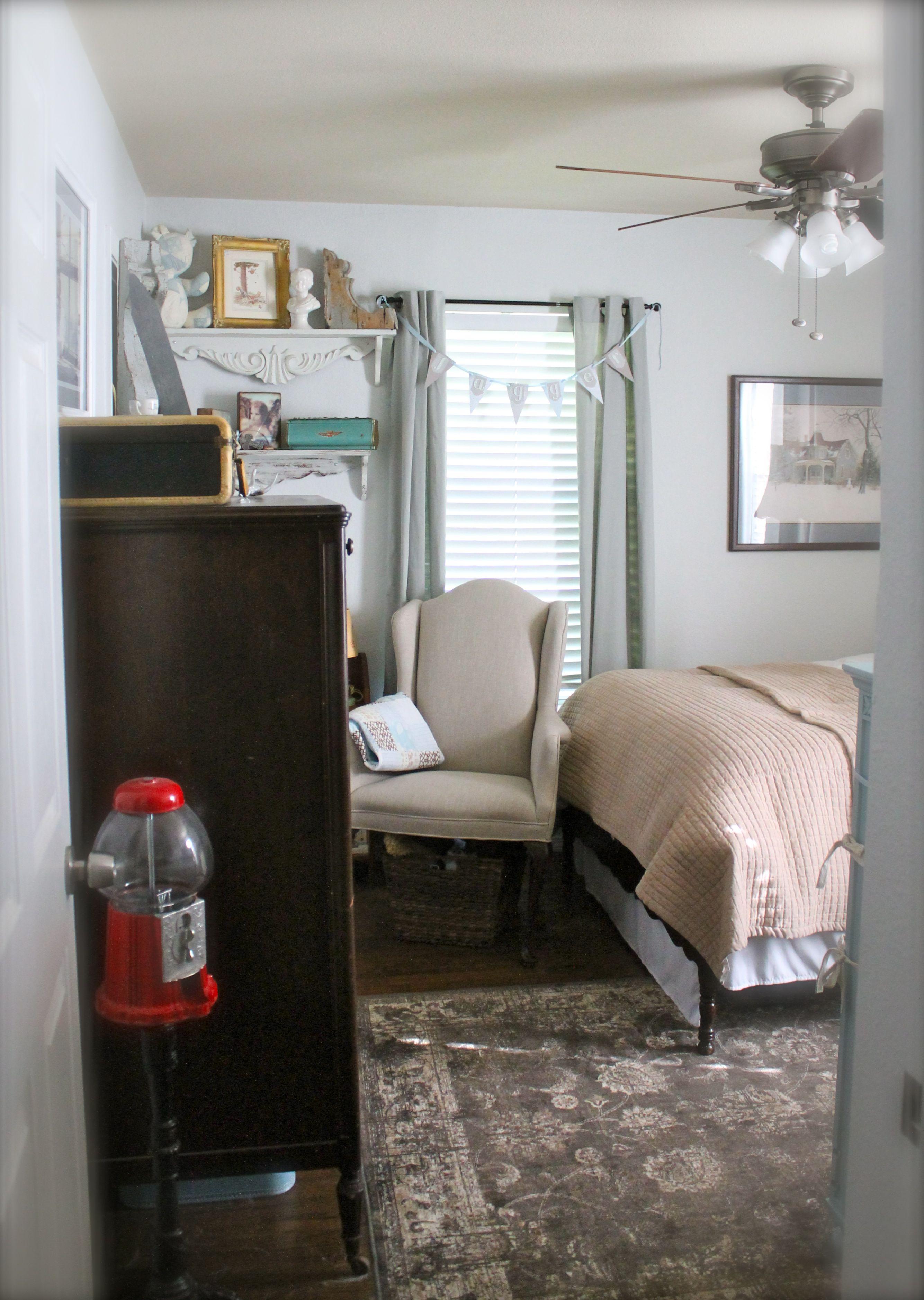 Vintage Boy Room Vintage Nursery Paint Fleur De Sel By Sherwin Williams Rug Tj Maxx Homegoods Boys Room Decor