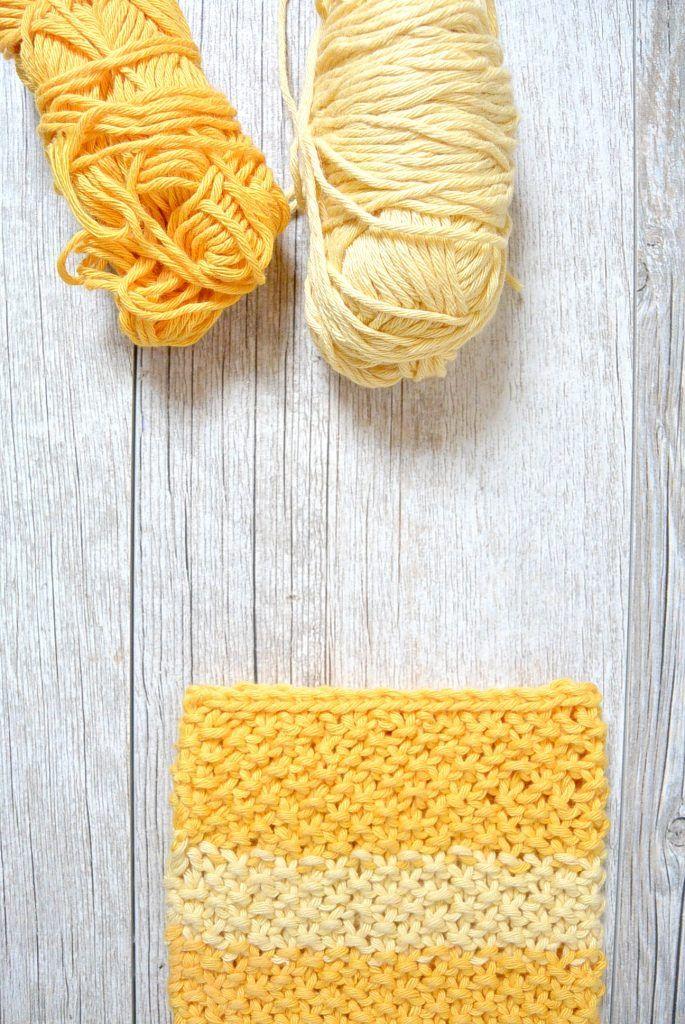 Easy Knit Waschloth Pattern – Sunshine Washcloth | Pinterest