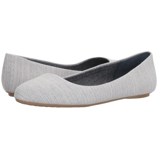 Dr. Scholl's Really (Elegant Navy Daydreamer Canvas) Women's Shoes ($65) ❤  · Comfortable FlatsBlue ...