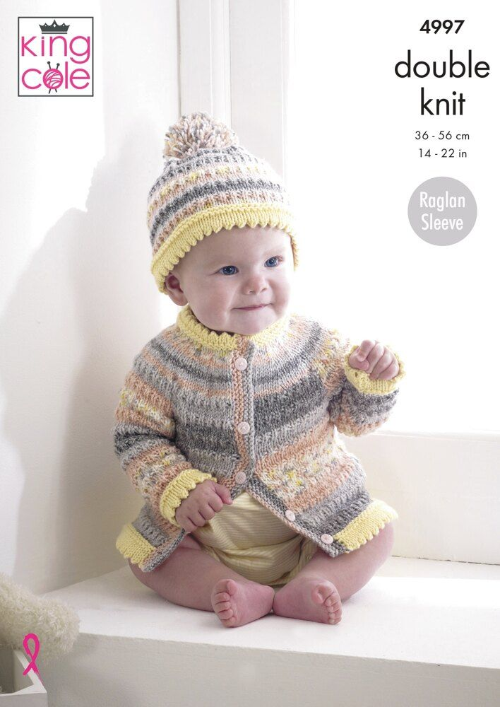 Cardigans, Sweater and Hat in King Cole DK - 4997 ...