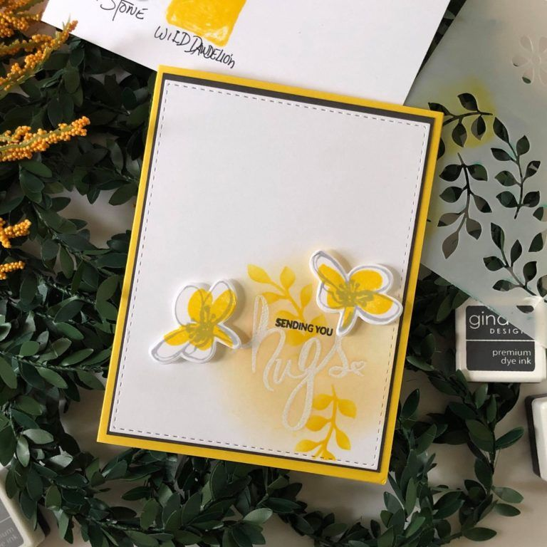 life changing ink blending  simple card design with