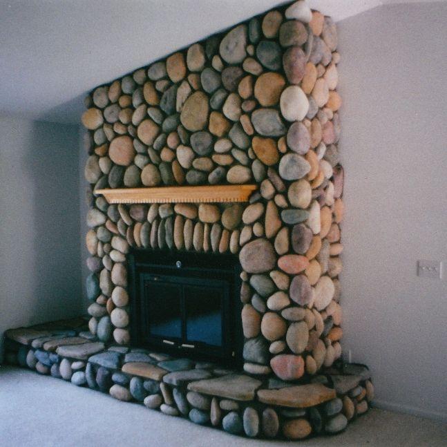 River Rock Energy Efficient Fireplace By Hoopfer Enterprises