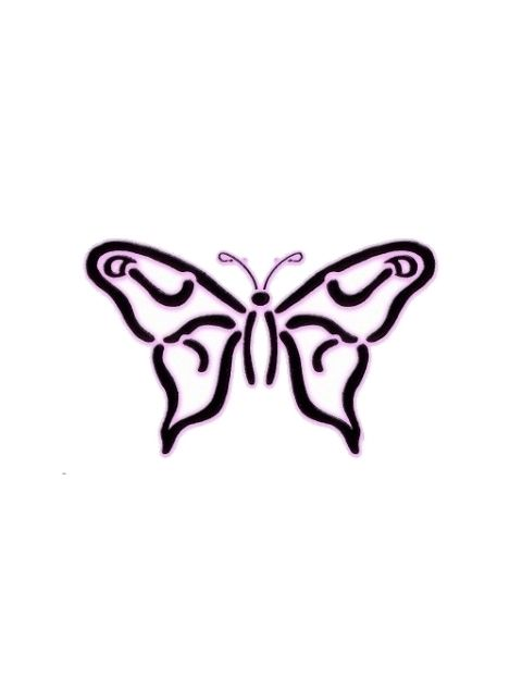 Simple Butterfly Design Pin simple colored butterfly tattoos with ...