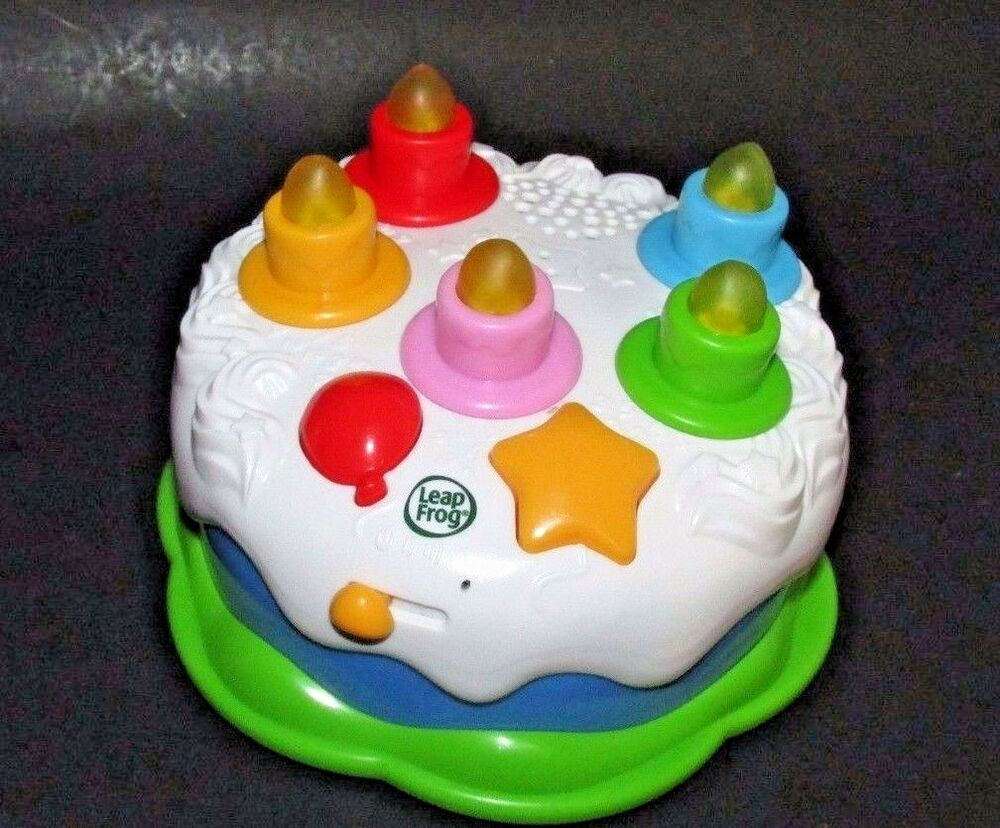 LeapFrog Birthday Cake Counting Blow Out Candles Lights Sounds Musical Toy Sings Affilink