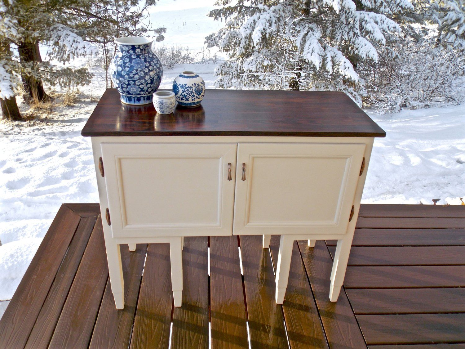 Vintage Buttermilk Sideboard Cabinet (With images ...