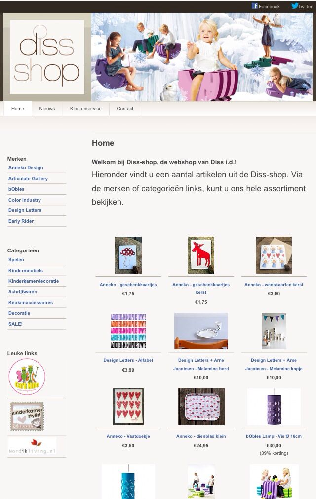 www.diss-shop.nl build in Wordpress by Signatures
