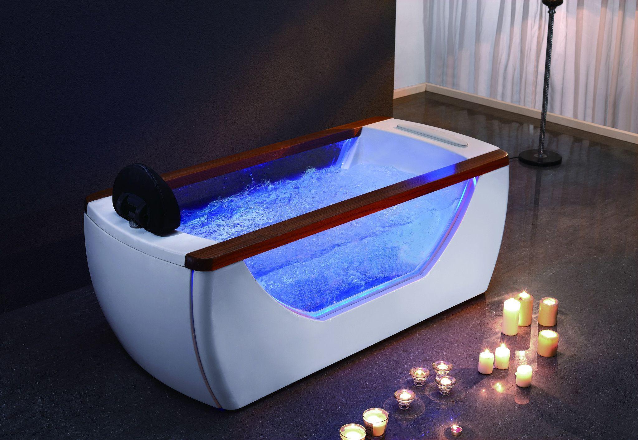 EAGO AM195 6\' Right Drain Rectangular Free Standing Air Bath Tub ...