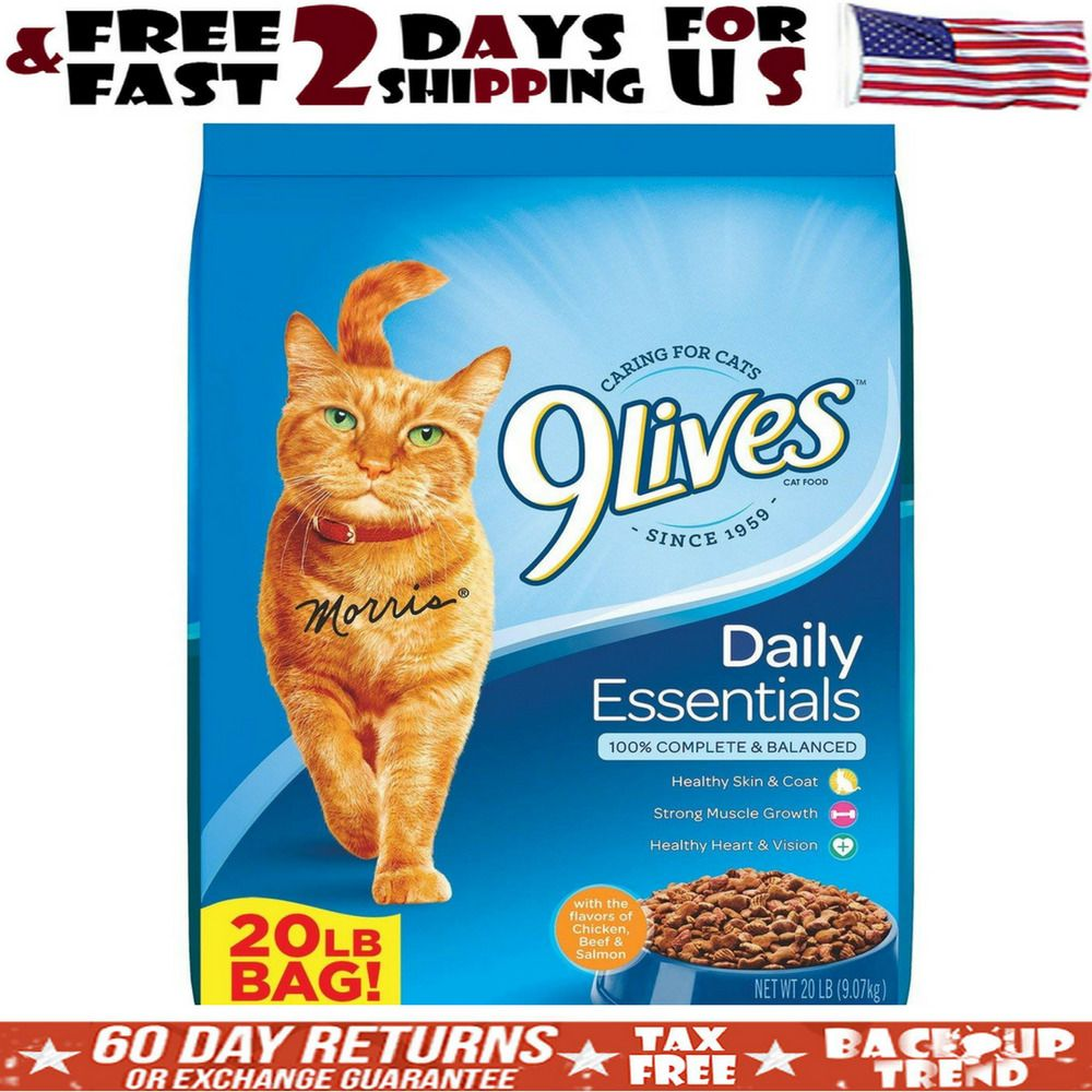 9lives Dry Cat Food Daily Essentials For Sensitive Stomach 20 Pound Bag Lb Large 9lives Cat Food Coupons Dry Cat Food Wet Cat Food