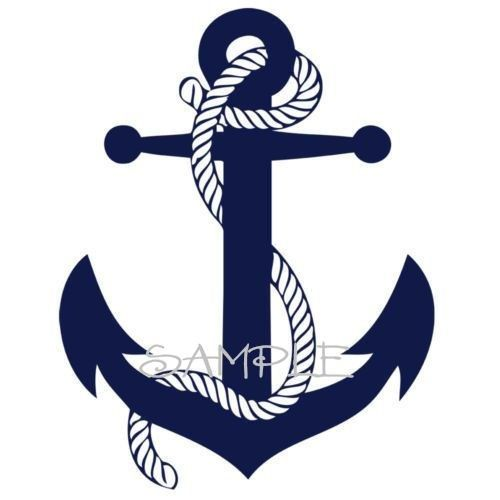 Wall decal im thinking of painting the backsplash in my bathroom navy blue with an anchor over the sink