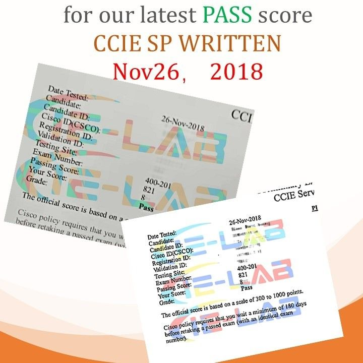 Congratulations For Our Lastpass Score Ccie Sp Is Stable Now Ielab