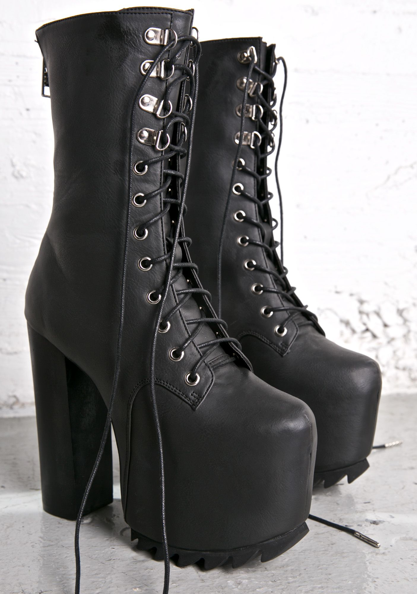 0586eb266ca6 Current Mood Nola Boots - I Want it Black  goth  gothboots  platformboots