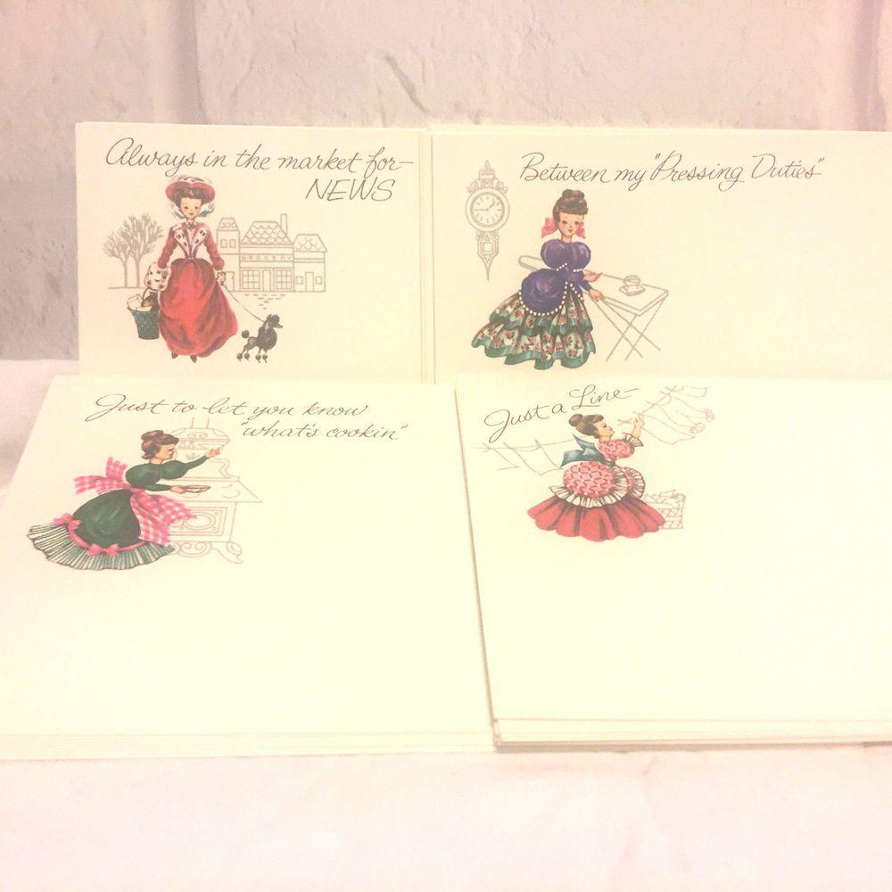 Vintage Current Post A Notes Vintage Ladies Greeting Cards Postcards