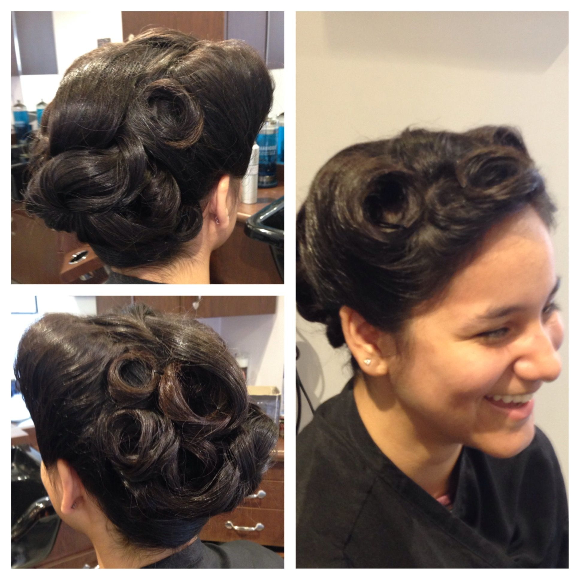 Vintage inspired up do by constance powell of lola and roxyus hair