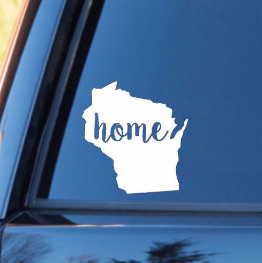 Wisconsin Car Decal Wisconsin Decal Wisconsin Sticker Laptop Decal Stickers Car Decals Bumper Stickers