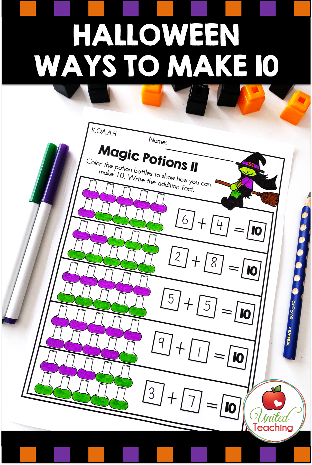 Halloween Math Activities Kindergarten With Images