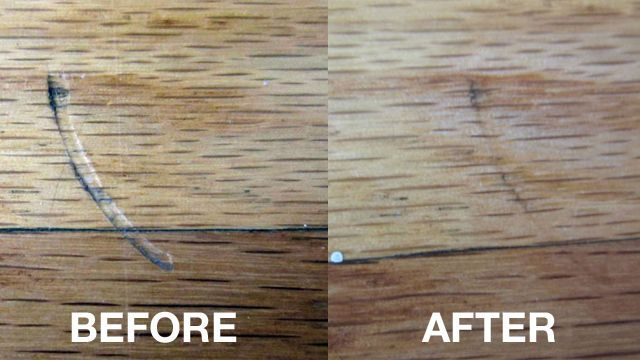 Remove Scratches And Dents In Hardwood Floors With An Iron Iron