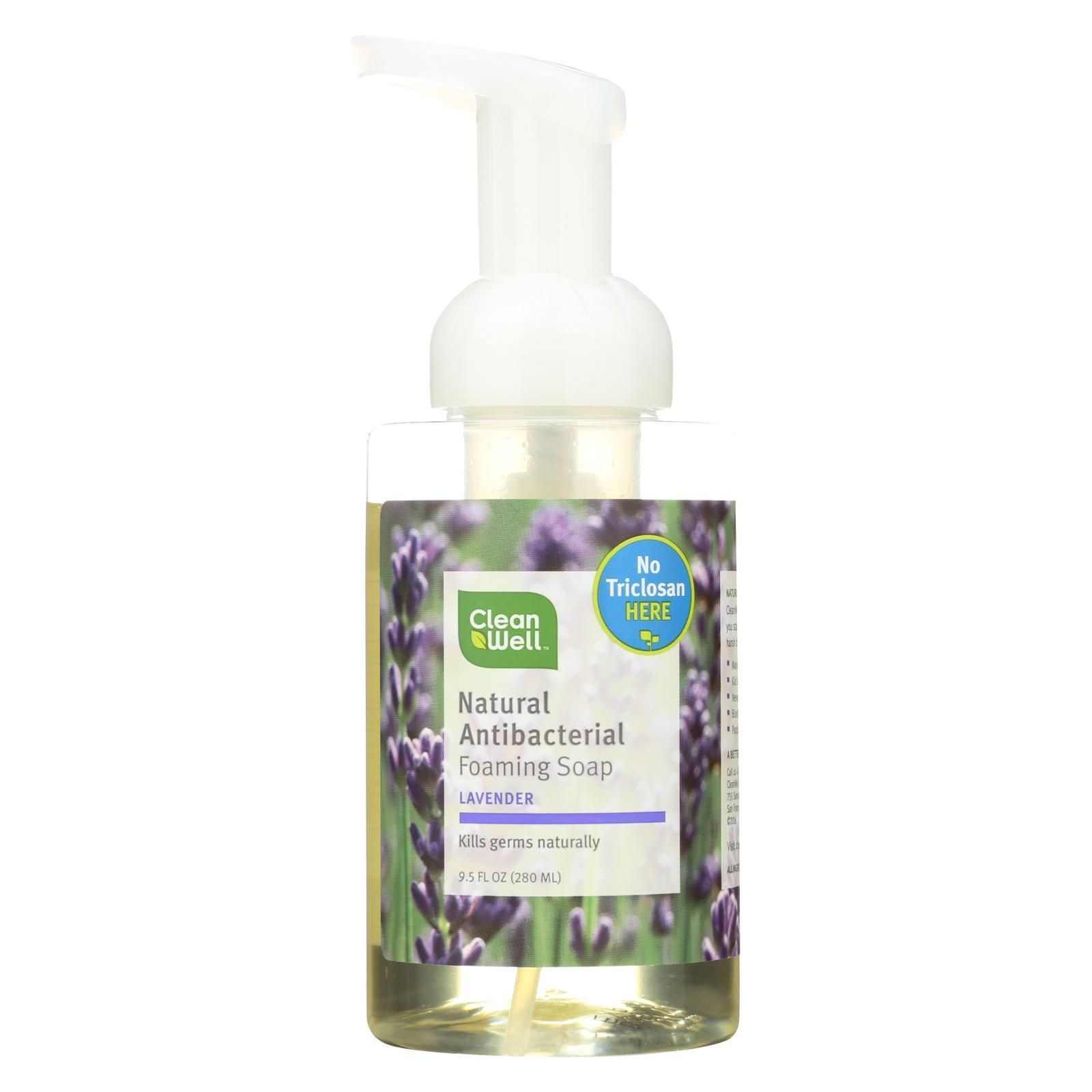 Cleanwell All Natural Antibacterial Foaming Hand Wash Lavender