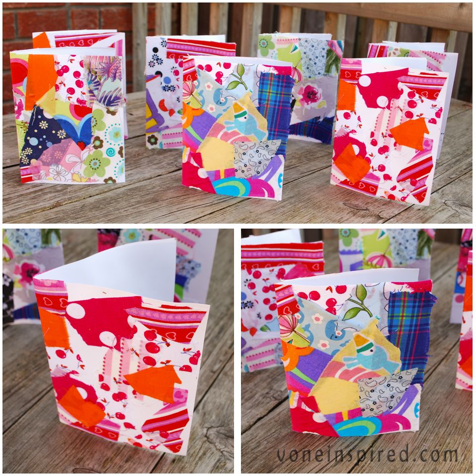 Ordinary Fabric Craft Ideas For Kids Part - 13: Project Ideas · Guest Blogging Over At Kiinzel - Iu0027m Making Fabric Collage  Cards With The Kids