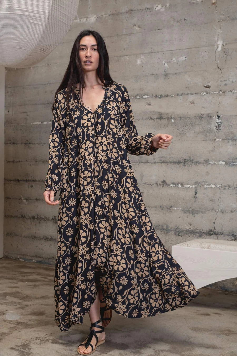 Shop Natalie Martin Fiore Maxi Dress At Bird Brooklyn Free Shipping In Usa For Orders Over 250 Offering The Best In Establ Maxi Dress Maxi Long Sleeve Dress [ 1350 x 900 Pixel ]