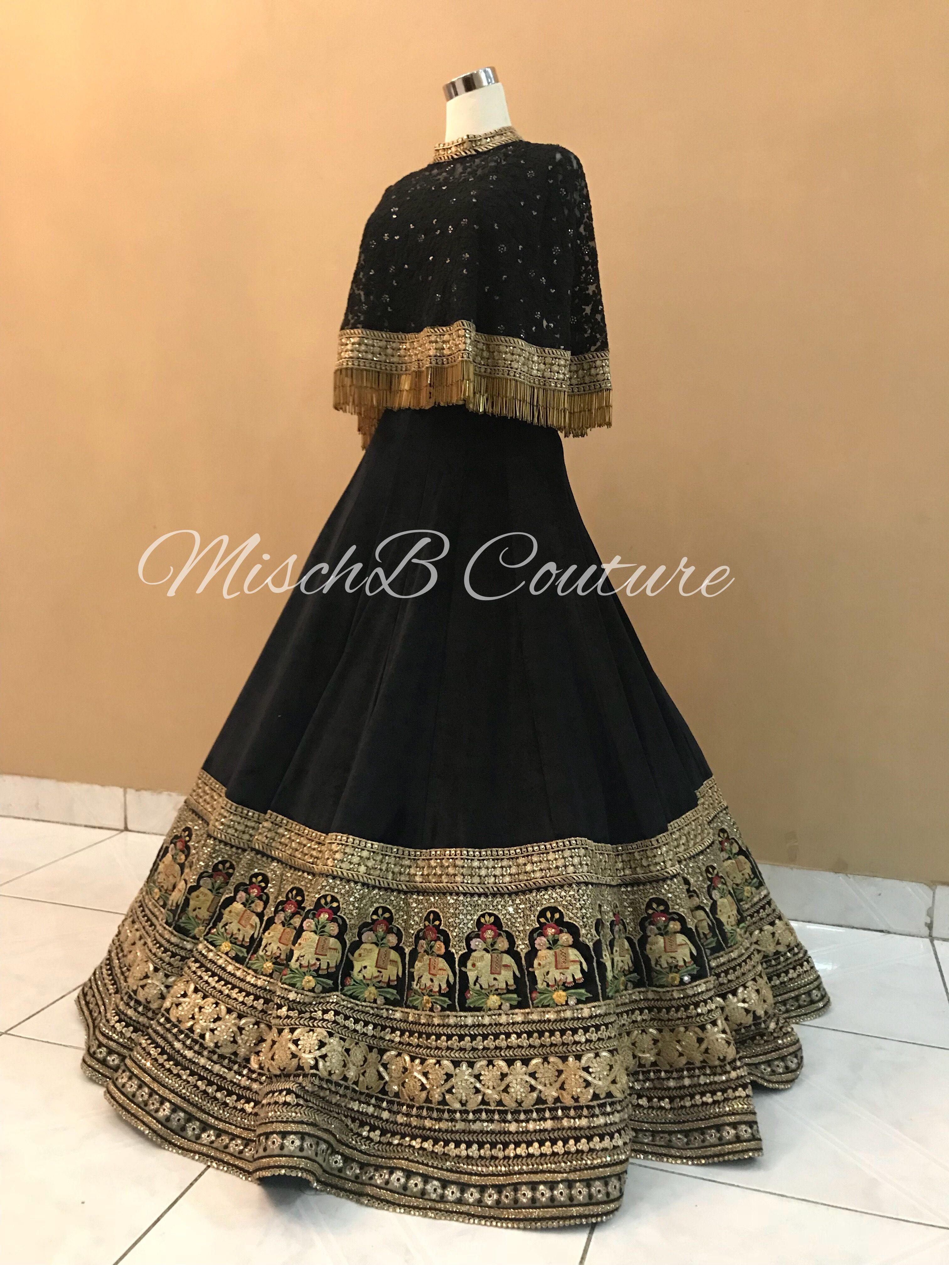 Reception lehenga by MischB Couture | Indian gowns dresses
