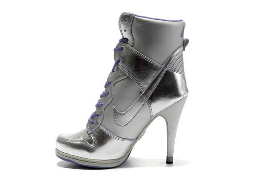 Silver Purple Nike Dunk Heels High SB For Sale � Air Force OnlineNike ...