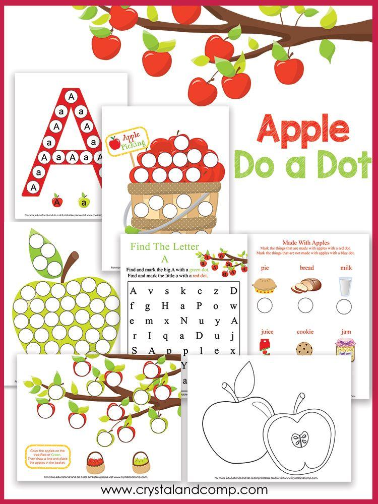 A Is For Apple Preschool Worksheets Pinterest Bingo Dabber Unit