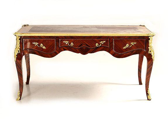 Prunk Bureau Plat Frankreich 2. Louis XV Barock Rokoko Schreibtisch