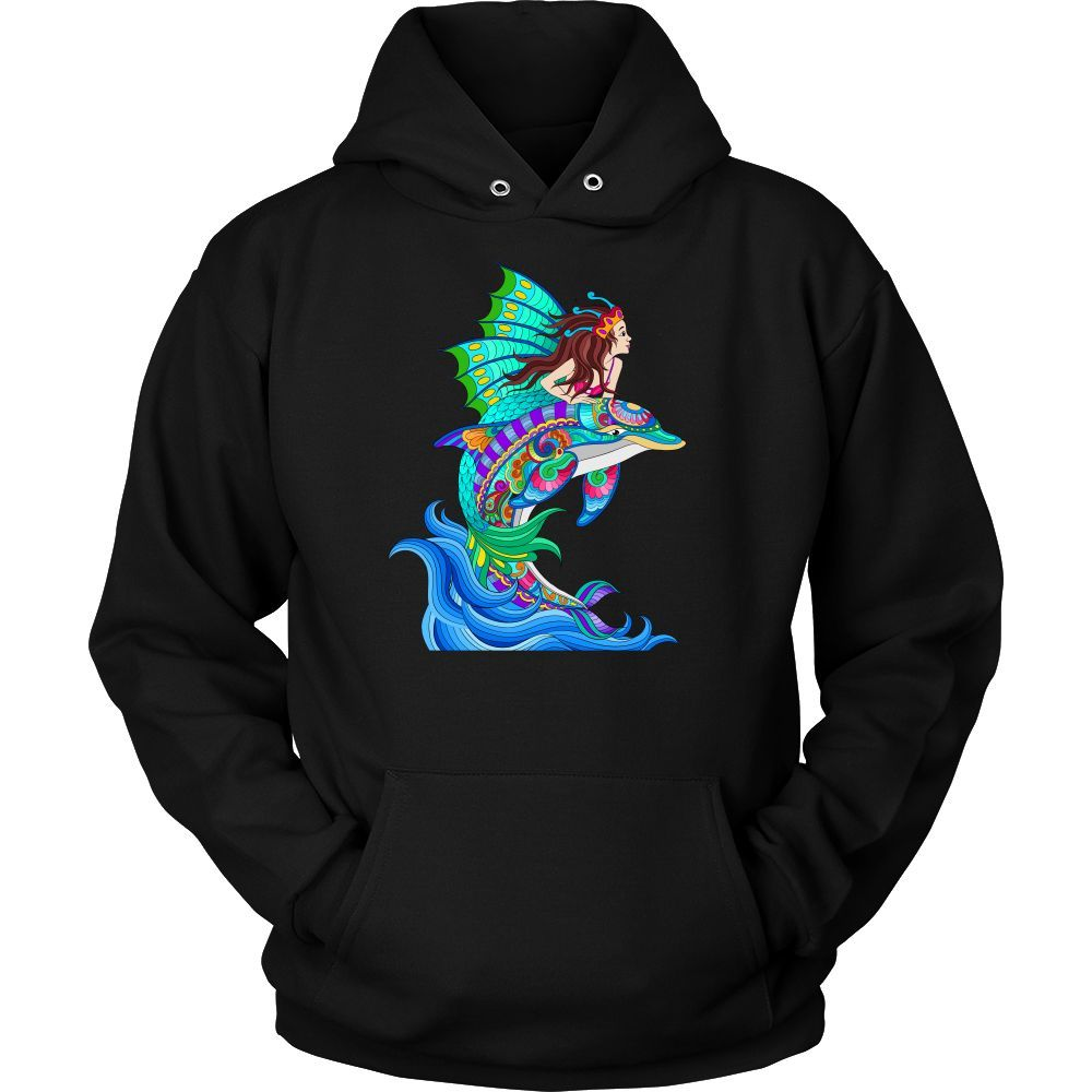 New Dolphin and Mermaid Sea Adventure Hoodie (Expanded Color Options)