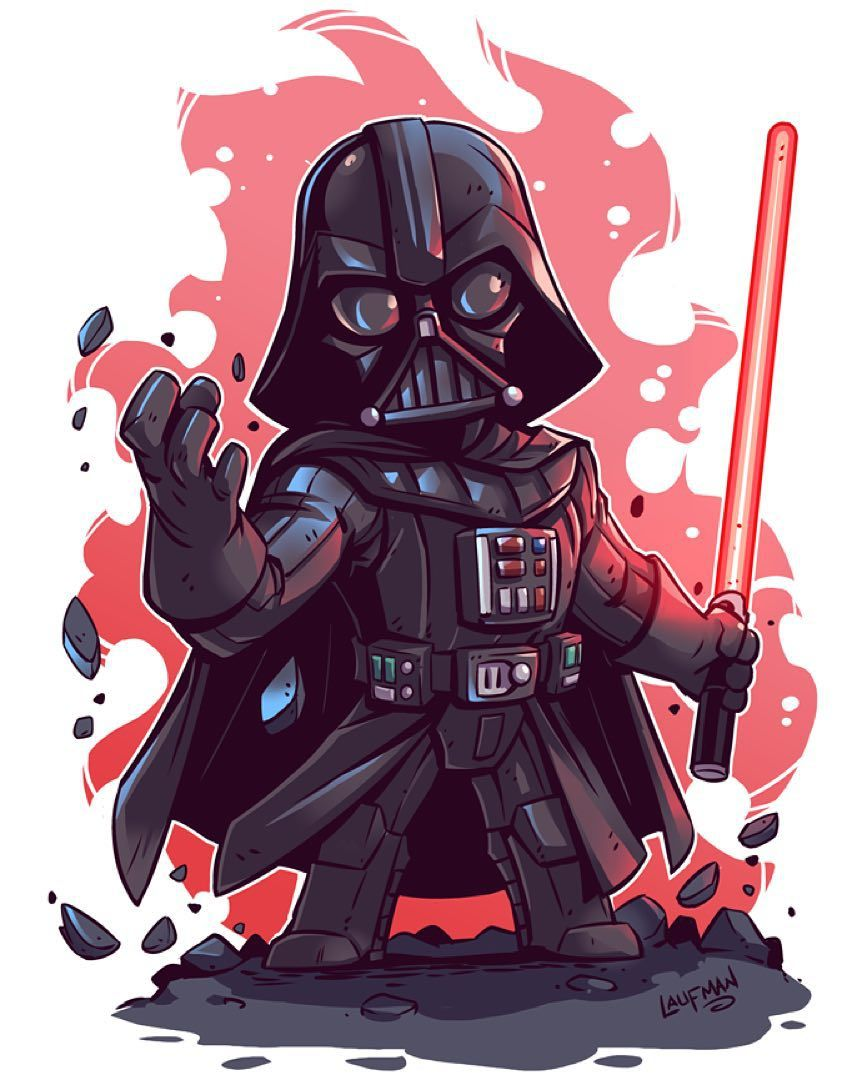 Derek Laufman On Instagram Join Me Starwars Sale On Right Now At Www Dereklaufman Com Link In My Profile Star Wars Cartoon Star Wars Art Star Wars Fan Art